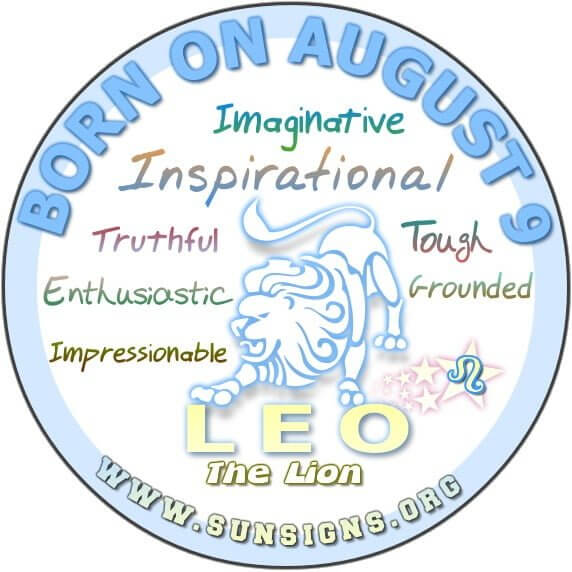 IF YOUR BIRTHDATE IS AUGUST 9, your zodiac sign is Leo - The Lion