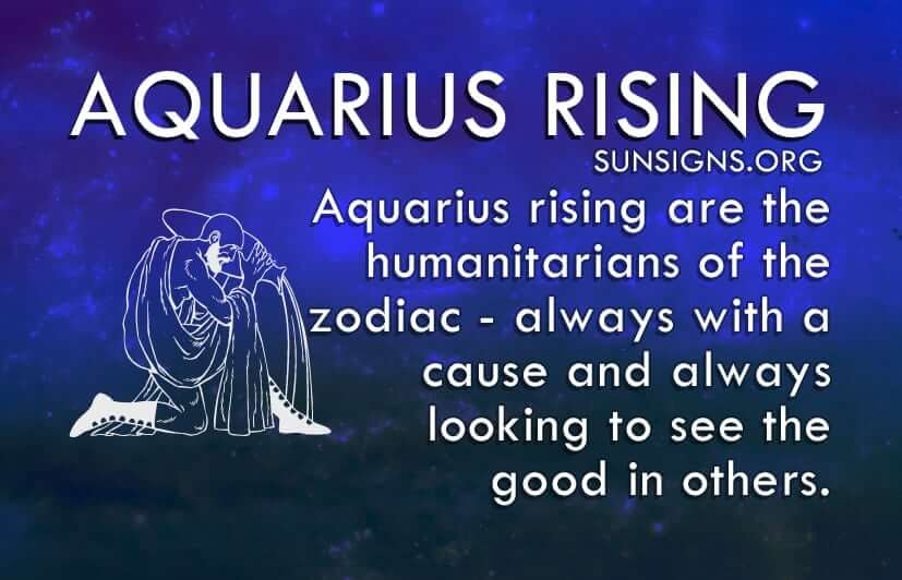 Aquarius rising is one of the friendliest of the zodiac.