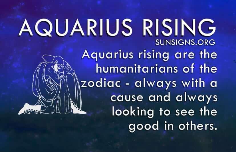 Aquarius rising is one of the friendliest of the zodiac.