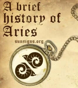 history of aries sign