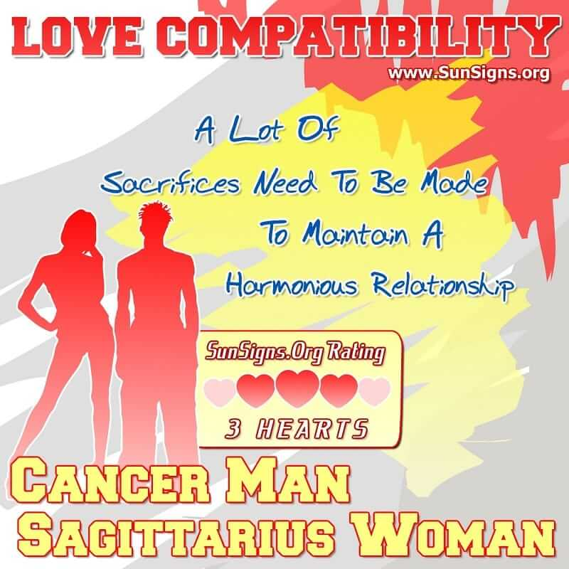 Cancer Man And Sagittarius Woman Love Compatibility