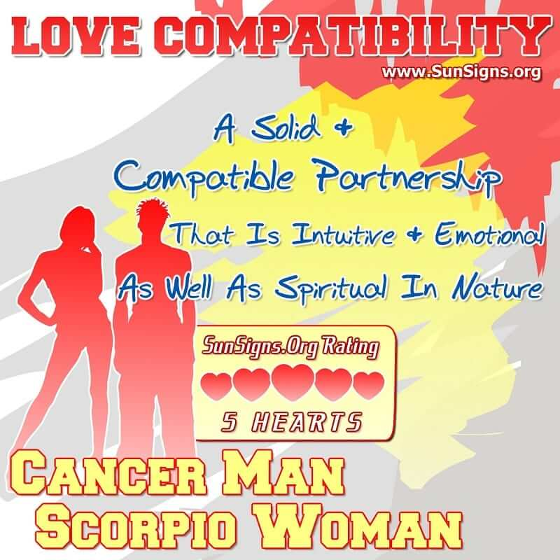 Cancer Man And Scorpio Woman Love Compatibility | SunSigns Org