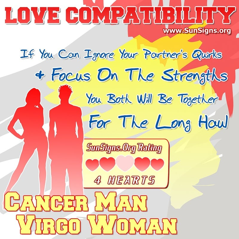 Cancer Man And Virgo Woman Love Compatibility