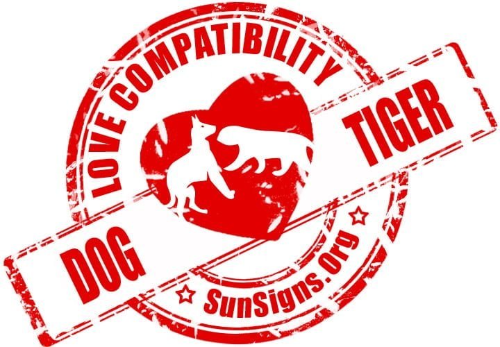According to Chinese astrology, the dog and tiger relationship will be full of compassion and kindness.