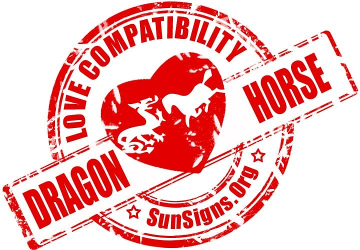 Chinese Dragon Horse Compatibility. The Dragon and Horse relationship will be happy if they can keep a job.
