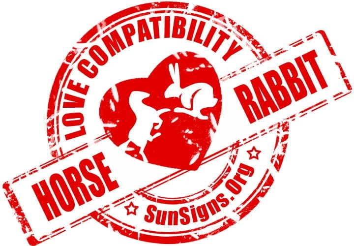 chinese horse zodiac compatibility with rabbit. A horse-rabbit compatibility suggests that they are going to have to really work at it to have a happy union.