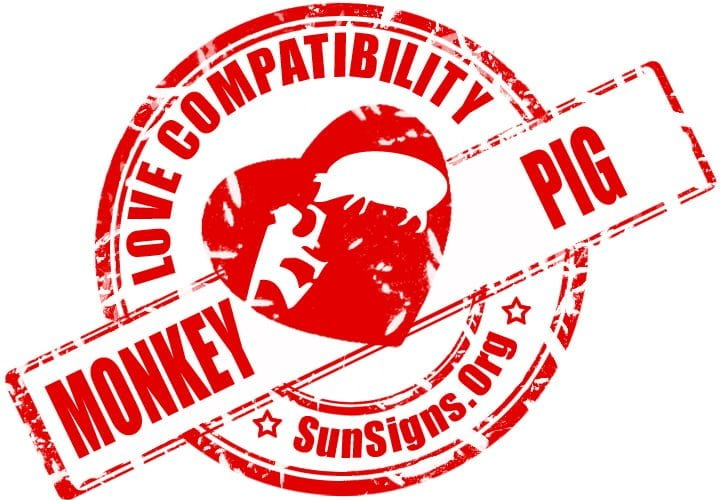 Chinese Monkey Pig Compatibility.The Monkey Pig relationship can be pretty happy.