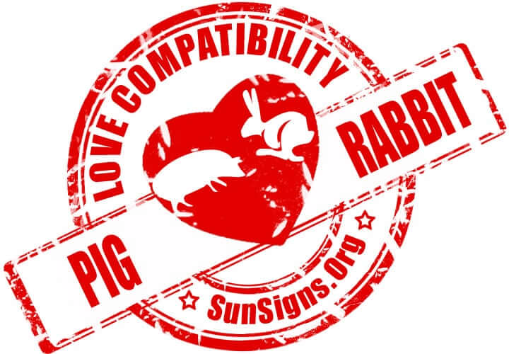 The Pig and Rabbit compatibility is very well matched for a wide variety of relationships.