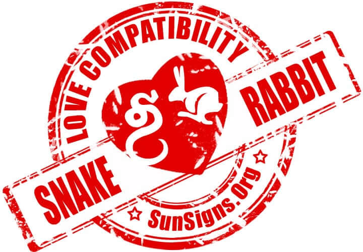 chinese snake zodiac compatibility with rabbit. These Chinese zodiac signs snake and rabbit look at things very differently but share excellent love compatibility.