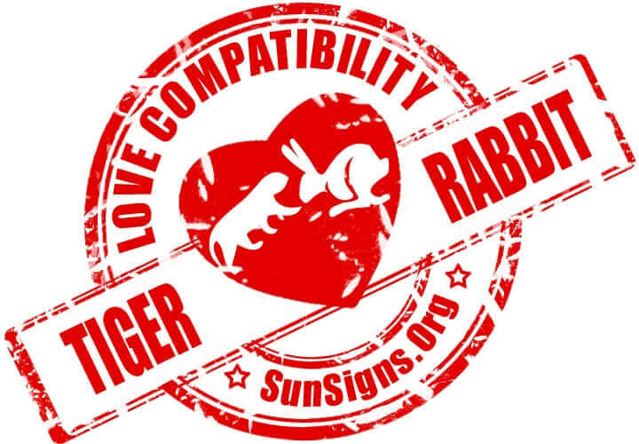 The two Chinese zodiac signs of the tiger and the rabbit could have a romantic relationship that might be lacking balance.