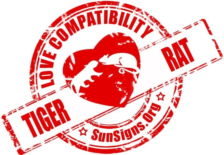 chinese tiger zodiac compatibility with rat. The tiger and rat compatibility in a romantic relationship are not likely to be successful or happy.