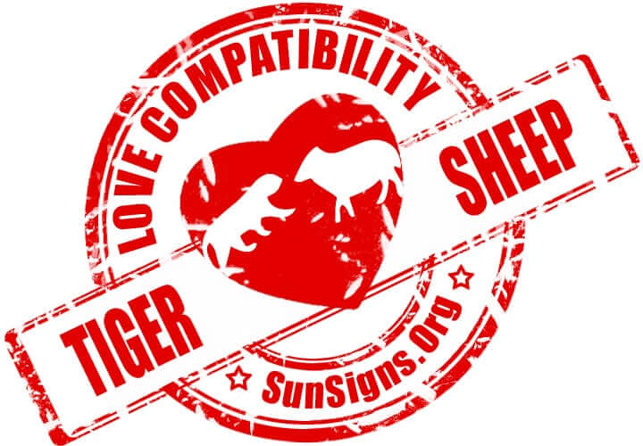 Chinese Tiger Sheep Compatibility. The tiger and the sheep might have to work hard to have a relationship that is compatible.