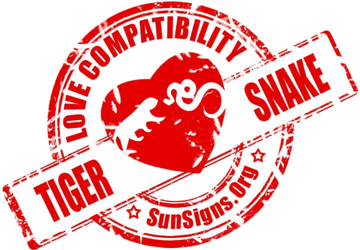 Tiger Snake Compatibility. The two Chinese zodiac signs of the tiger and the snake will have trouble finding something to agree on
