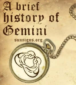 history of gemini sign