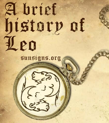 history of leo sign