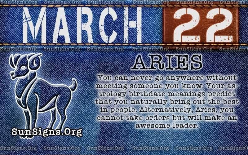 march 22 birthday