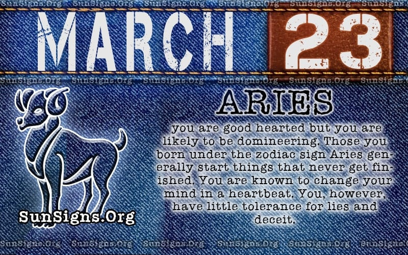 march 23 birthday