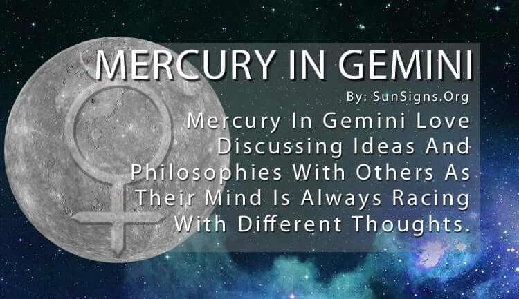 Mercury In Gemini