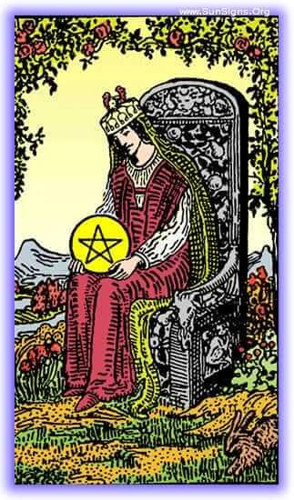 Queen of Pentacles - Meanings & Interpretation - Minor Arcana