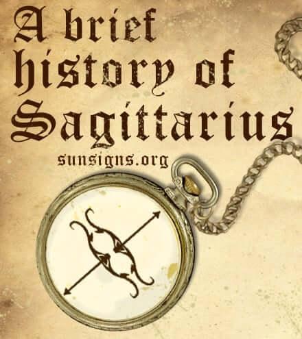 history of sagittarius sign