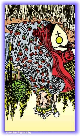 The tone of the meditation on the Empress tarot card in reversed position is futility, dormancy, and obstacles