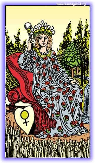 The lesson of the Empress tarot card meditation is love, fecundity, and growth