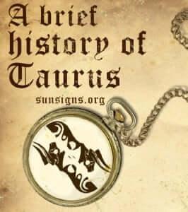 history of taurus sign