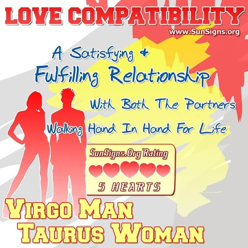 virgo man taurus woman
