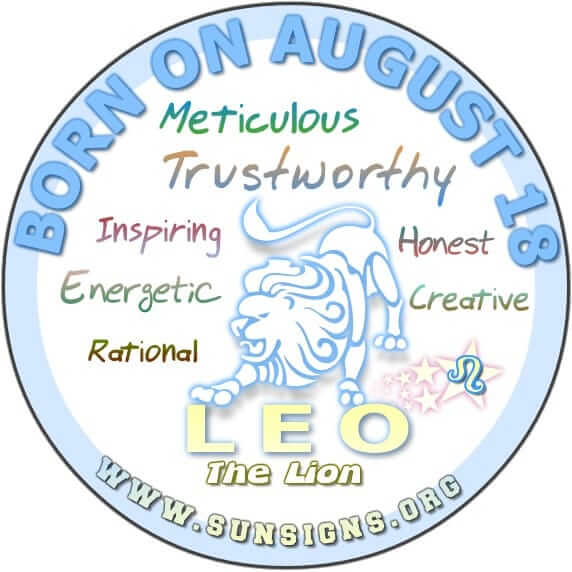 IF YOUR BIRTHDATE IS AUGUST 18, then you are a Leo who has the ability to withstand the storm.