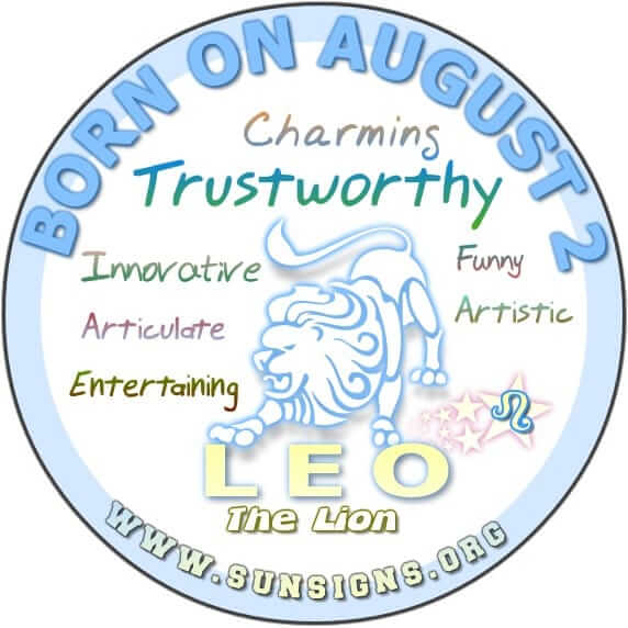 IF YOUR BIRTHDAY IS AUGUST 2, then your zodiac sign is Leo and you can be quite convincing.