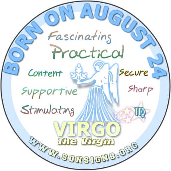 IF YOUR BIRTHDATE IS ON AUGUST 24, then you are a Virgo.