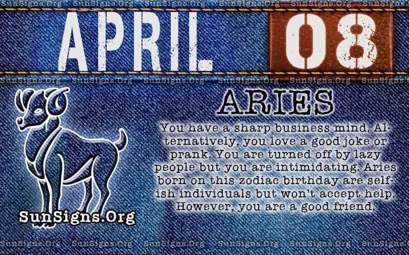 April 8 Zodiac Horoscope Birthday Personality | SunSigns Org