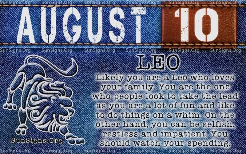 Information about August 10  |10 August