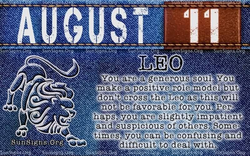 august 11 leo birthday calendar