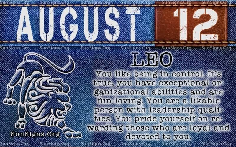 august 12 leo birthday calendar