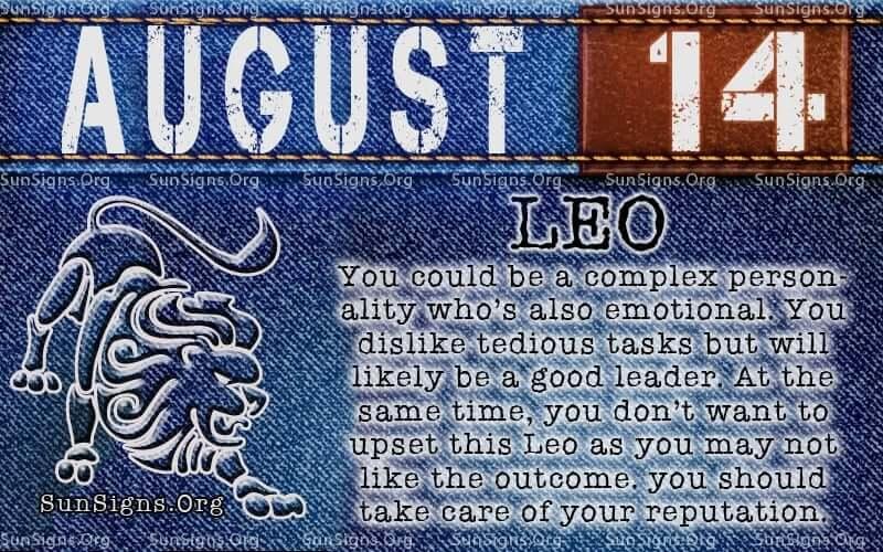 august 14 leo birthday calendar