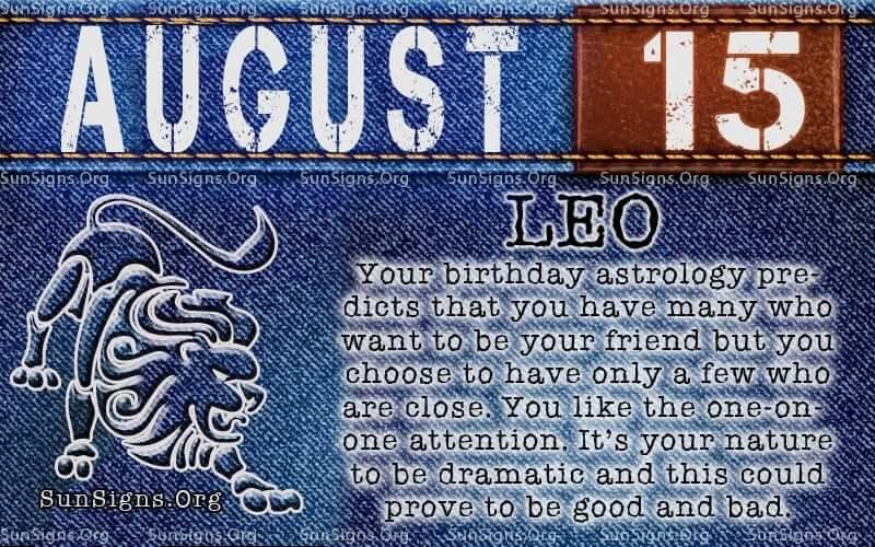 august 15 leo birthday calendar
