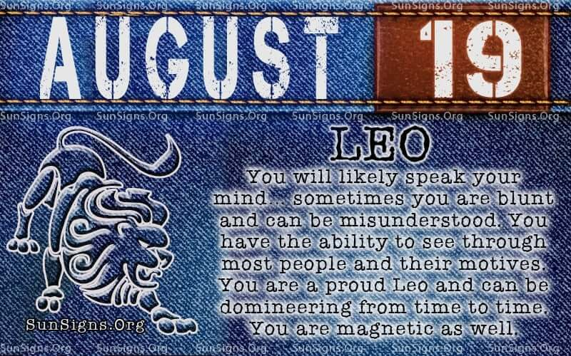 August 19 Horoscope | Famous Birthdays