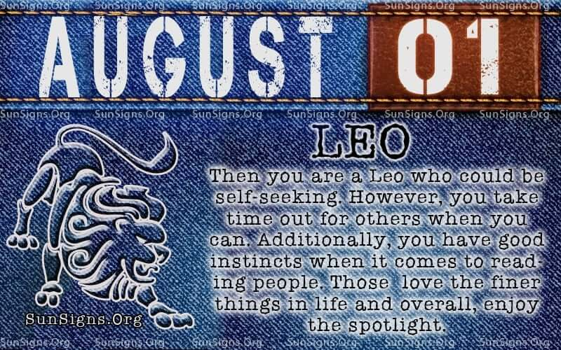 August 1 Zodiac Horoscope Birthday Personality Sunsigns