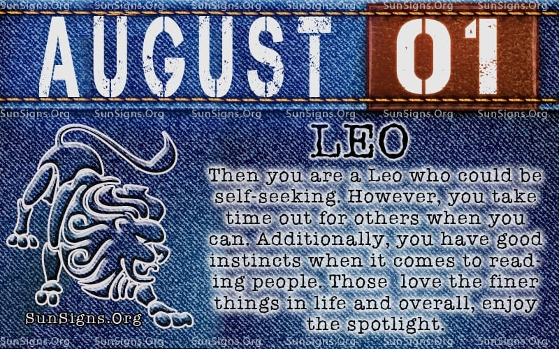 august 1 leo birthday calendar