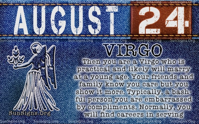 august 24 virgo birthday calendar