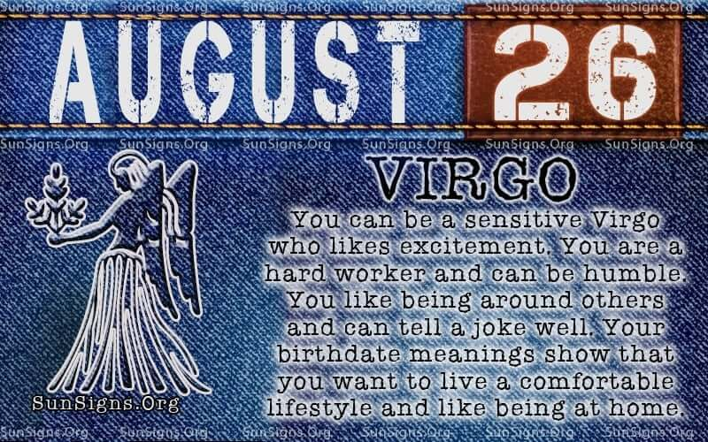 august 26 virgo birthday calendar
