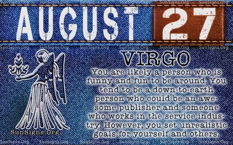 august 27 virgo birthday calendar