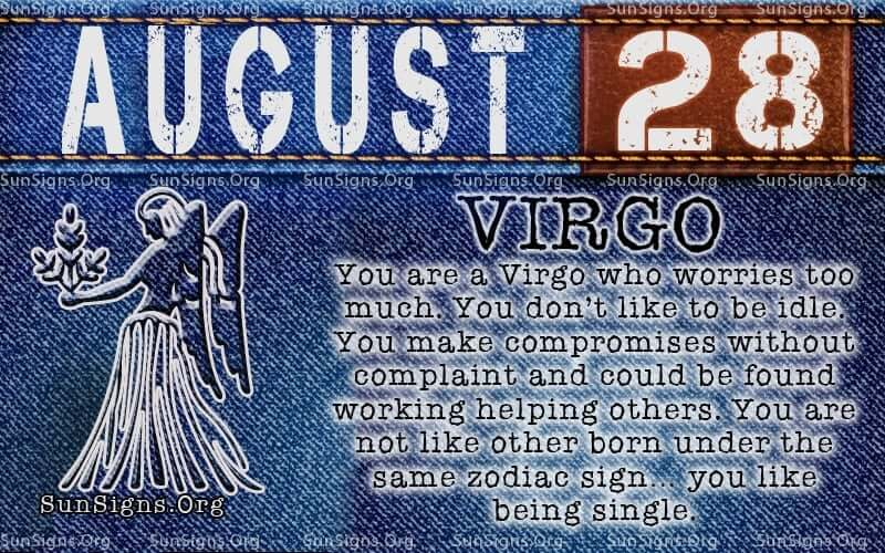 august 28 virgo birthday calendar