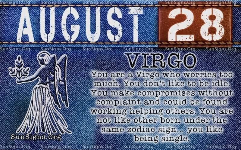 august 28 virgo birthday calendar