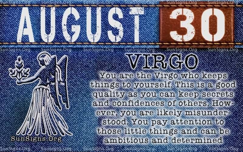 august 30 virgo birthday calendar