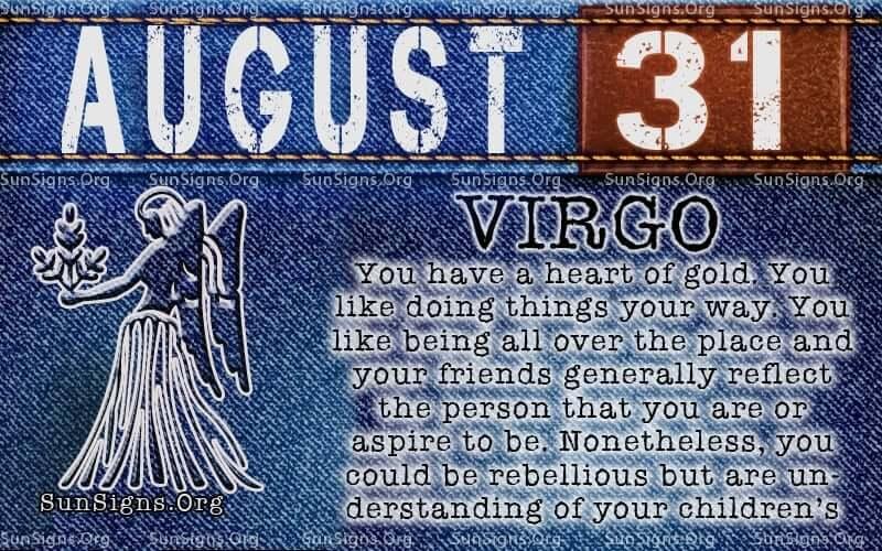 august 31 virgo birthday calendar