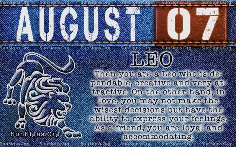 August 7 Horoscope | Famous Birthdays