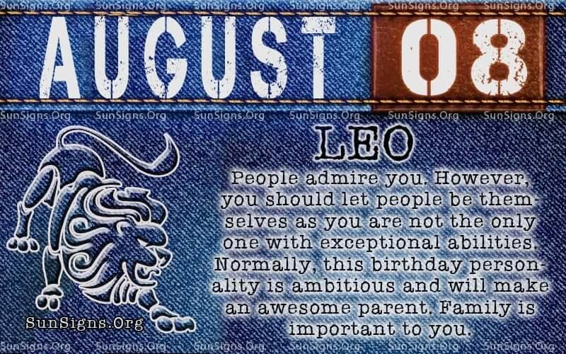 august 8 leo birthday calendar