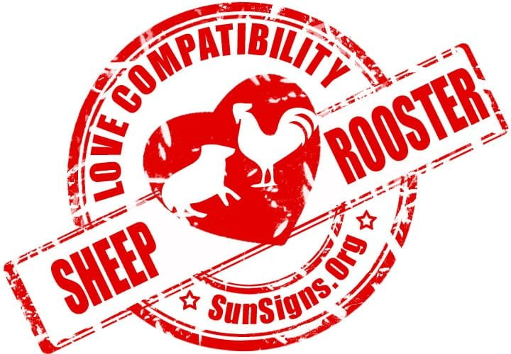 Chinese Sheep Rooster Compatibility. The difference in the zodiac personalities of the two Chinese zodiac signs could create a conflict in the Sheep Rooster friendship.